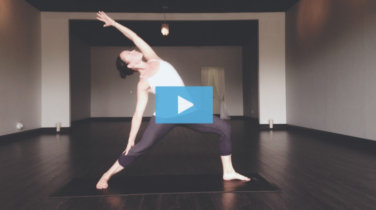 Mind Body Flow Yoga featured student Megan Cavanagh owns Peaceful Warrior.