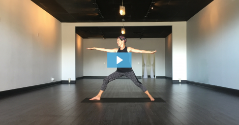 [VIDEO] Kim Owns Warrior II Pose