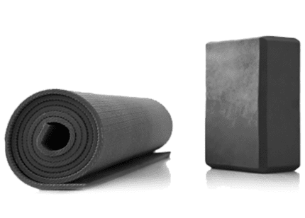 Yoga block and mat