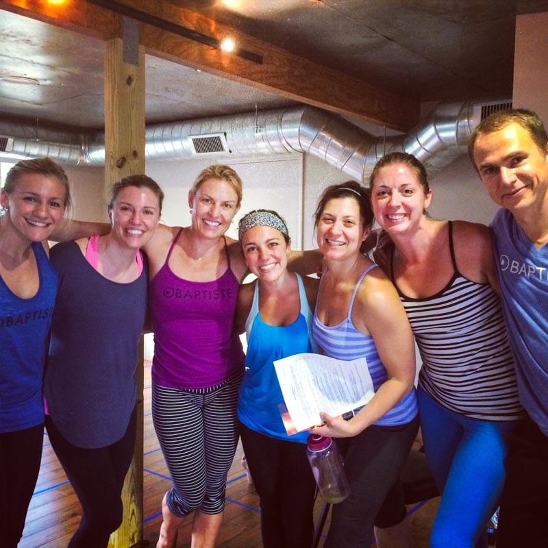 Samantha Brennan (center) at Art of Assisting training.